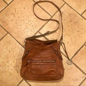 Style & Co Brown Faux Leather Crossbody Handbag